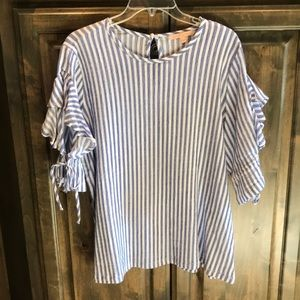 Like new Gibson Latimer Striped Top L $79!!